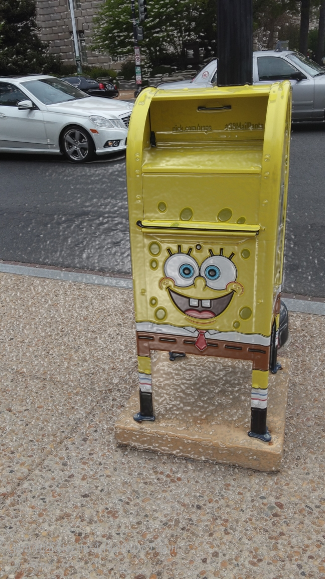 We spotted Sponge Bob in Washington D.C.
